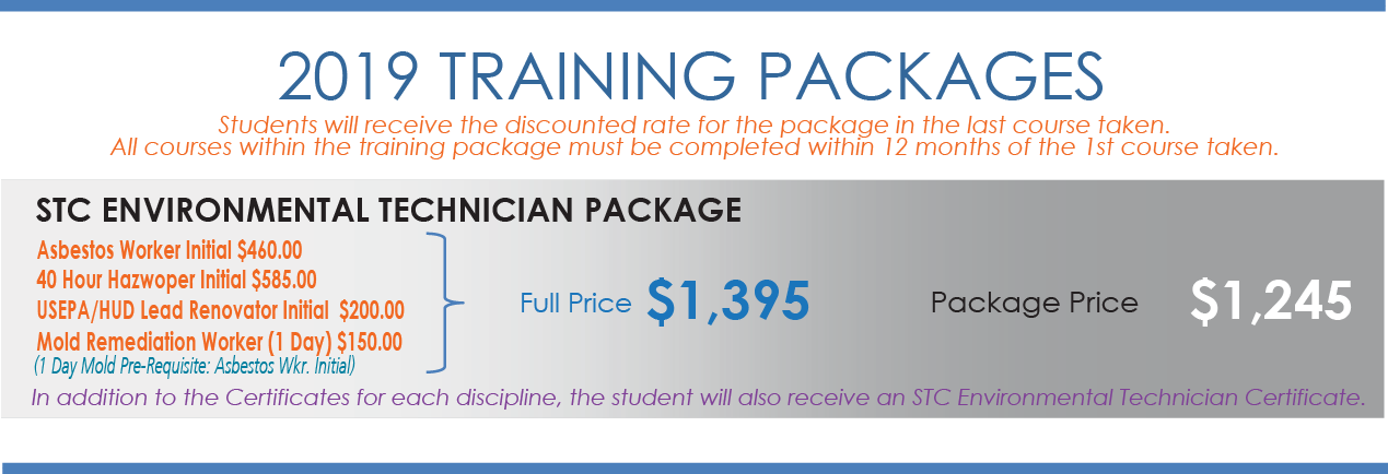 Stc Environmental Technician Package Safety Training Center